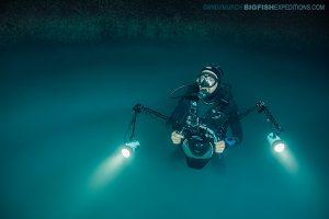 Diver in Angelita Cenote
