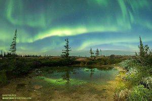 Aurora borialis aka northern lights in Churchill.