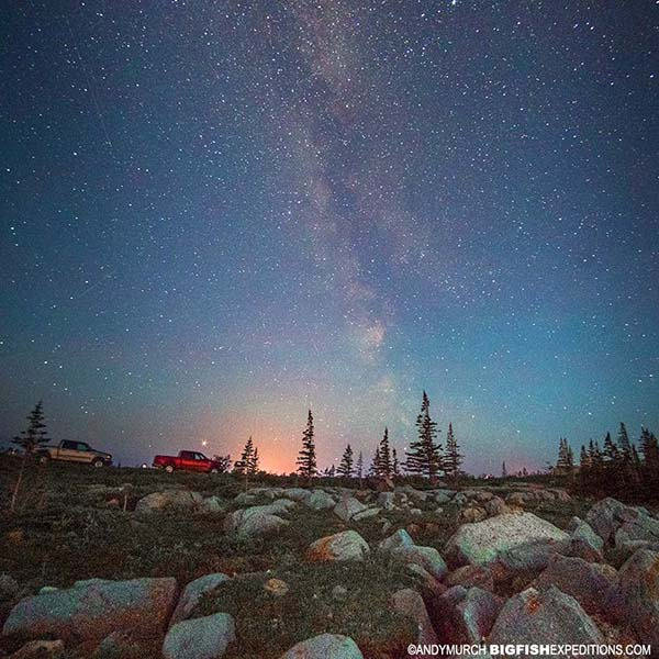 Milky Way star gazing in Churchill.