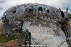 Miss Piggy plane wreck in Churchill
