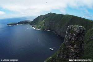 Aerial shot of the Galapagos Islands