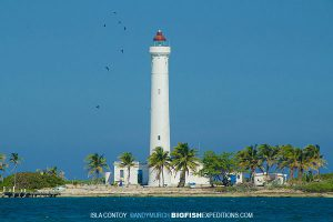 Contoy Lighthouse on the Sailfish Expedition 2014