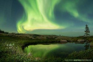 Northern lights photography in Churchill Manitoba