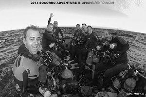 Happy divers at Roca Partida
