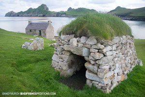 A stone hut on Hirta Island, St Kilda