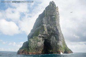 A rocky peak in St Kilda