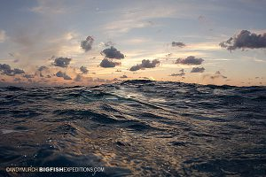 Stormy sea in the Bahamas