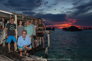 Happy crocodile divers in Chinchorro