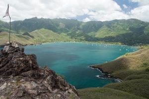 A beautiful vista above Taioh'e Bay in Nuku Hiva