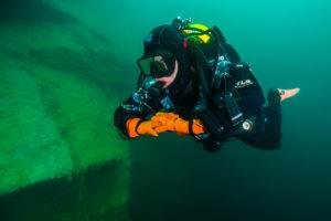 Diver in Loch Low-Minn by Jennifer Idol